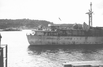 SS Queens Park at Balboa - Stern View