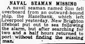 news clipping seaman missing