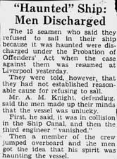 news clipping haunted ship men discharged