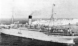 Cunard Liner  SS  Scythia