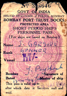 John's Dock Pass for April 13th, 1944
