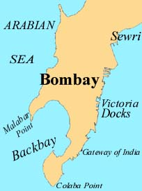 Map of Bombay