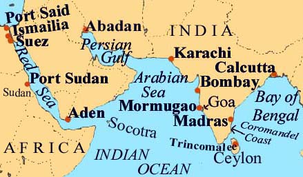 Map Indian Ocean North
